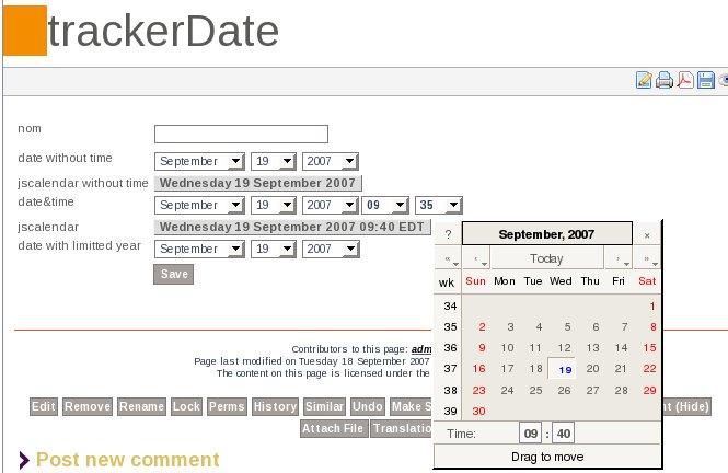 date tracker fields documentation for tiki wiki cms groupware