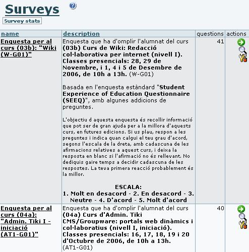Survey User | Doentation for Tiki Wiki CMS Groupware on