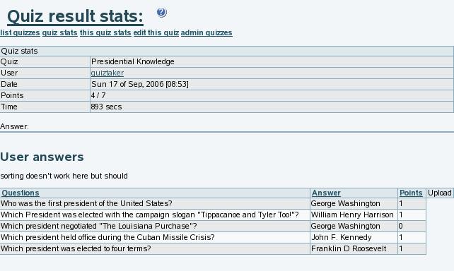 Quiz User   Documentation for Tiki Wiki CMS Groupware