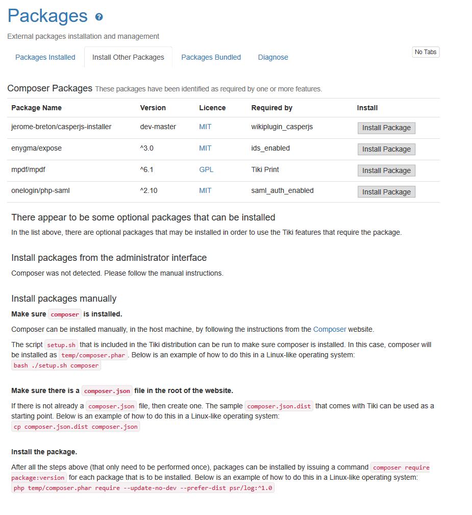 Tiki18 | Documentation for Tiki Wiki CMS Groupware