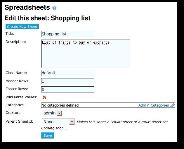 Spreadsheet jq | Documentation for Tiki Wiki CMS Groupware