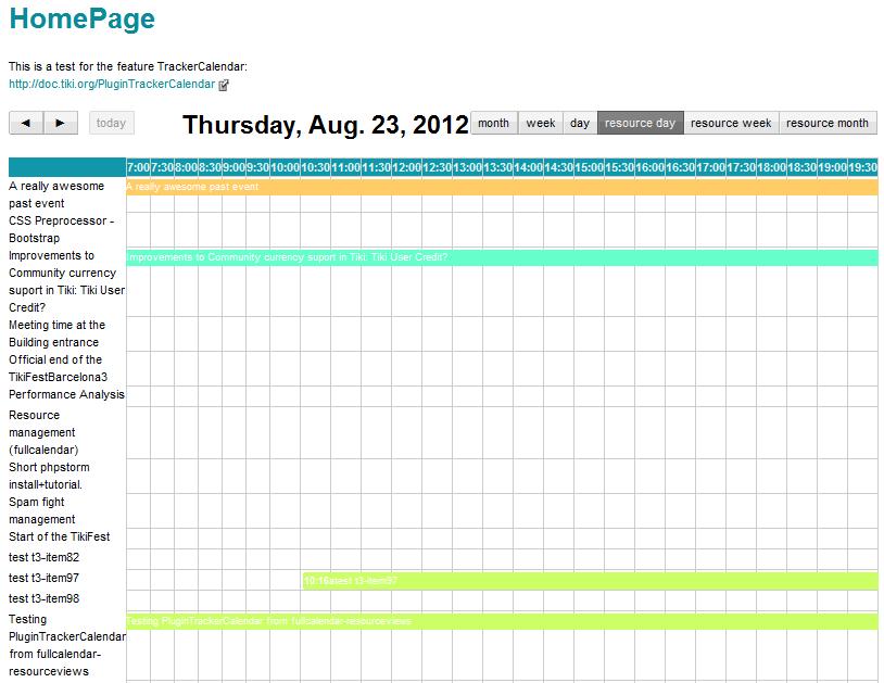 PluginTrackerCalendar   Documentation for Tiki Wiki CMS Groupware