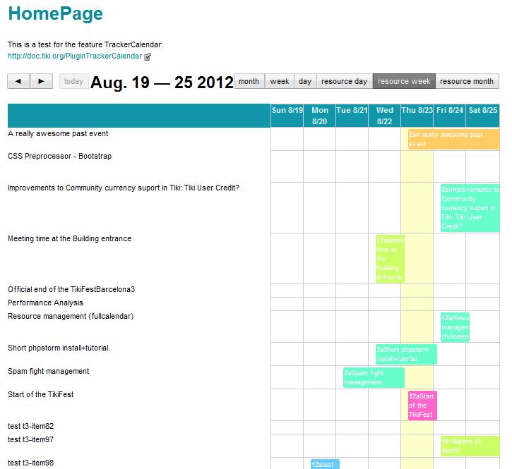 PluginTrackerCalendar   Documentation for Tiki Wiki CMS