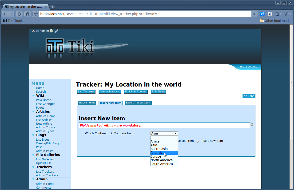 Screenshot of English Tracker