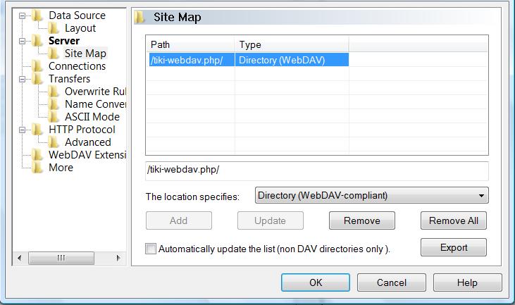 WebDAV | Documentation for Tiki Wiki CMS Groupware