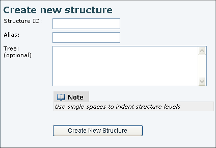 Create new structure