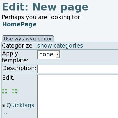 Wysiwyg Editor User | Documentation for Tiki Wiki CMS Groupware